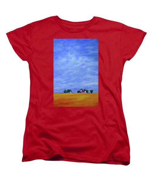Women's T-Shirt (Standard Cut) featuring the painting Fields Of Gold by Jo Appleby
