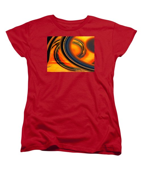 Women's T-Shirt (Standard Cut) featuring the photograph Fiery Celestial Rings  by Shawna Rowe