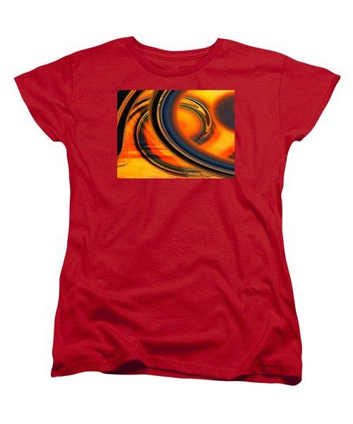Fiery Celestial Rings  Women's T-Shirt (Standard Cut) by Shawna Rowe