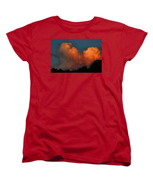 Fiery Cumulus Women's T-Shirt (Standard Cut) by Kathryn Meyer