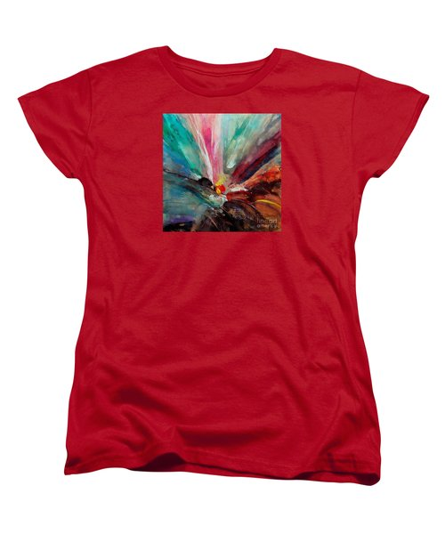 Women's T-Shirt (Standard Cut) featuring the painting Fiesta  by Dragica  Micki Fortuna