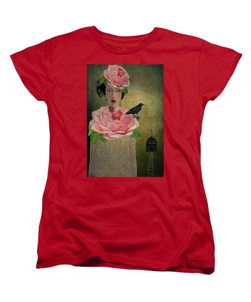 Women's T-Shirt (Standard Cut) featuring the digital art Finding Her Way by Lisa Noneman