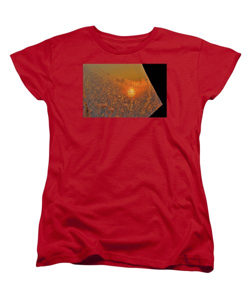 Women's T-Shirt (Standard Cut) featuring the photograph Fire And Ice by Susan Capuano