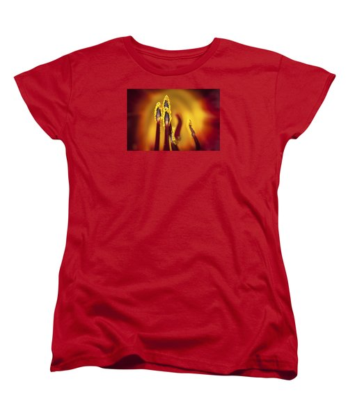 Fire Dancers Women's T-Shirt (Standard Cut) by Christina Lihani