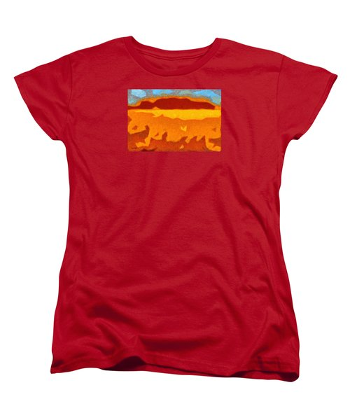 Fire Hill Women's T-Shirt (Standard Cut) by Spyder Webb