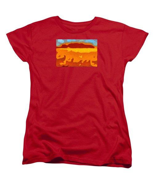Women's T-Shirt (Standard Cut) featuring the digital art Fire Hill by Spyder Webb