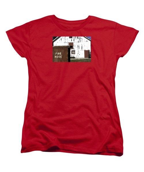 Women's T-Shirt (Standard Cut) featuring the photograph Fire Hose by Lora Lee Chapman