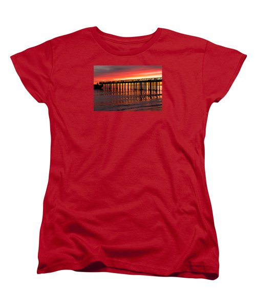 Fire In The Sky Women's T-Shirt (Standard Cut) by Lora Lee Chapman