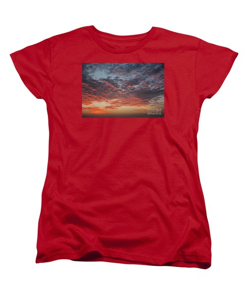 Fire Sky Women's T-Shirt (Standard Cut) by Ana Mireles