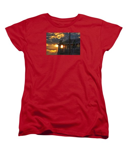 Women's T-Shirt (Standard Cut) featuring the photograph Firefighters In Training by Nikki McInnes