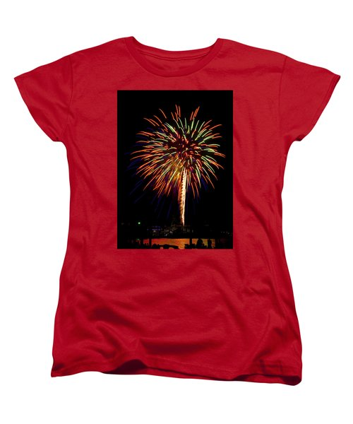 Women's T-Shirt (Standard Cut) featuring the photograph Fireworks by Bill Barber