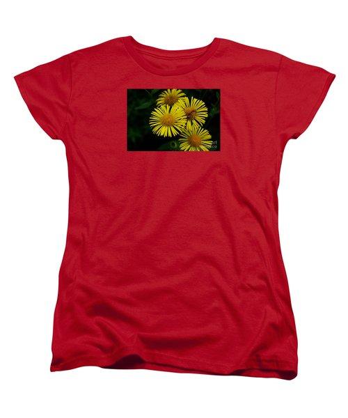 Fireworks In Yellow Women's T-Shirt (Standard Cut) by John S