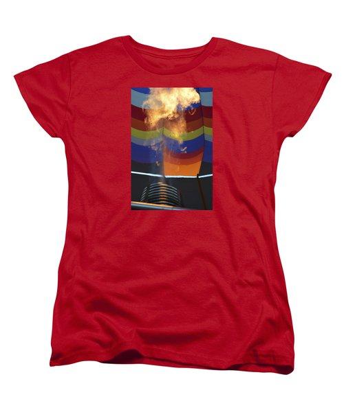 Women's T-Shirt (Standard Cut) featuring the photograph Firing Up by Linda Geiger