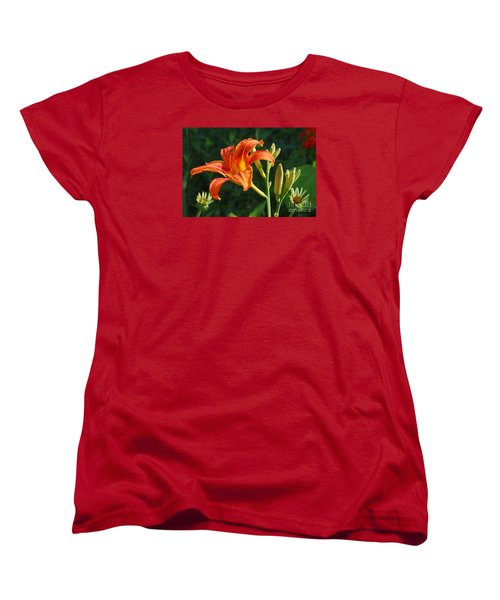 First Flower On This Lily Plant Women's T-Shirt (Standard Cut) by Steve Augustin