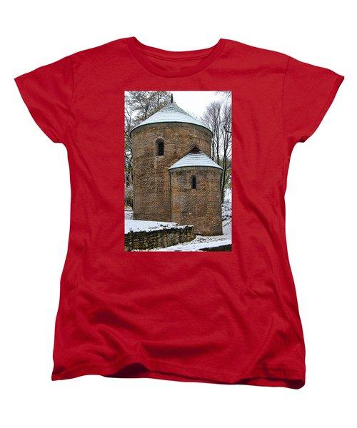 First Snow Women's T-Shirt (Standard Cut) by Mariola Bitner