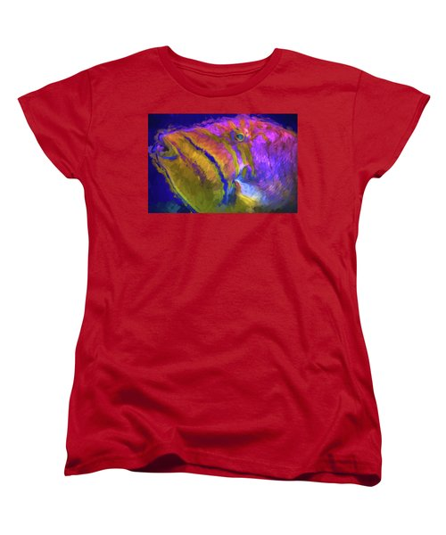 Fish Paint Dory Nemo Women's T-Shirt (Standard Cut) by David Haskett