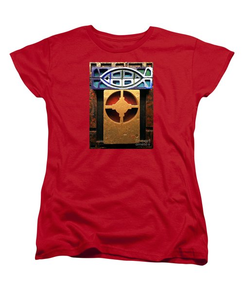 Women's T-Shirt (Standard Cut) featuring the painting The Fisherman by James Lanigan Thompson MFA