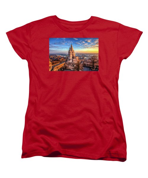 Women's T-Shirt (Standard Cut) featuring the photograph Fisherman's Bastion In Budapest by Shawn Everhart
