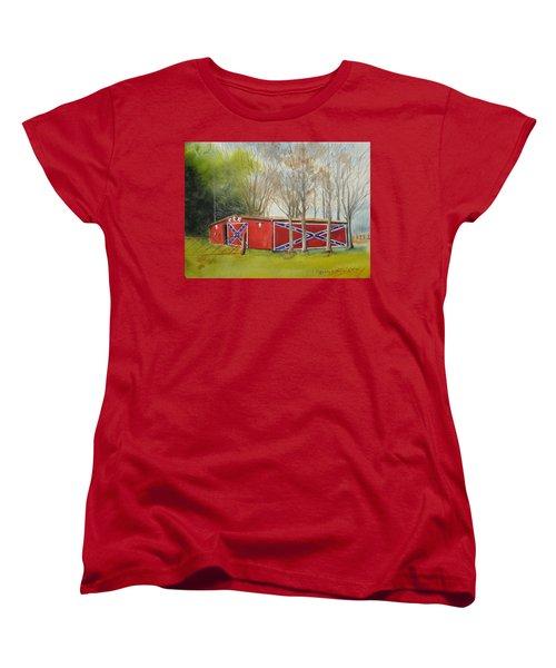 Flag Barn Women's T-Shirt (Standard Cut)