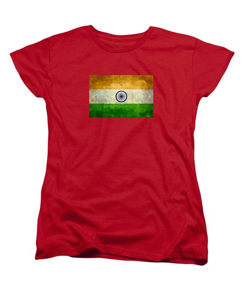 Flag Of India Retro Vintage Version Women's T-Shirt (Standard Cut) by Bruce Stanfield