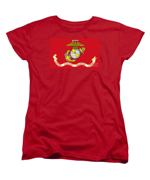 Flag Of The United States Marine Corps Women's T-Shirt (Standard Cut) by Pg Reproductions