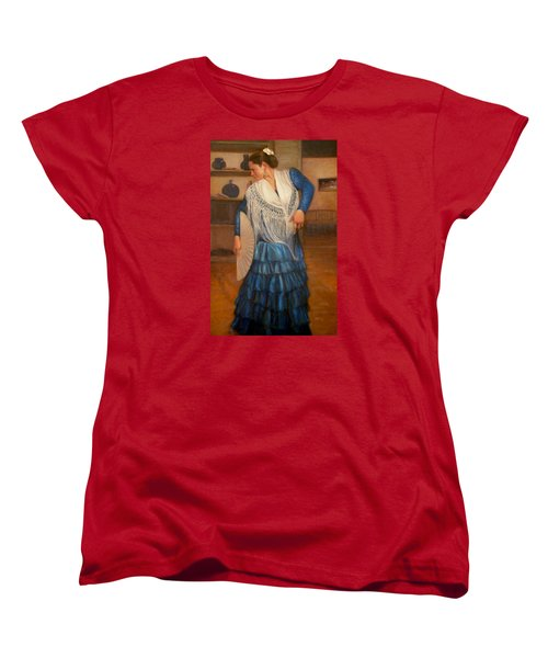 Women's T-Shirt (Standard Cut) featuring the painting Flamenco 2 by Donelli  DiMaria