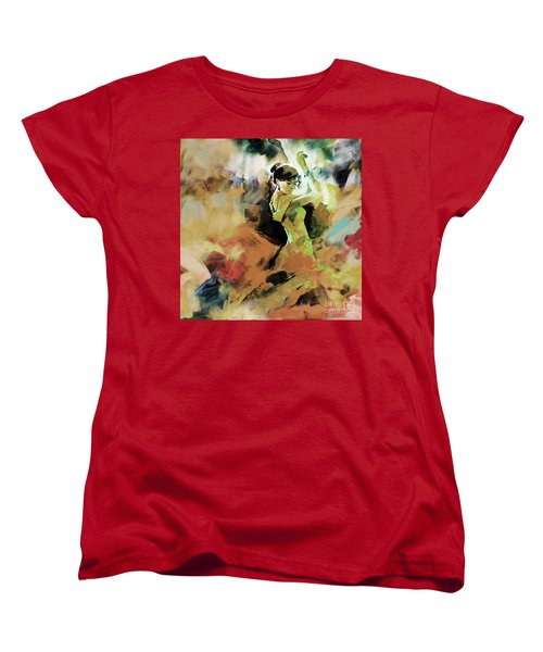 Women's T-Shirt (Standard Cut) featuring the painting Flamenco 56y3 by Gull G