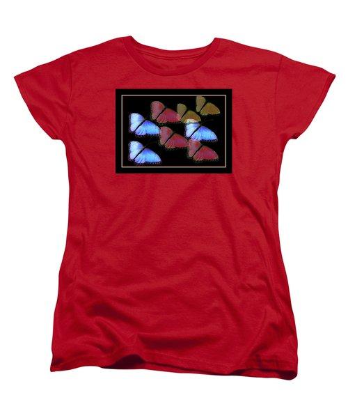 Flight Of The Butterflies Women's T-Shirt (Standard Cut) by Rosalie Scanlon