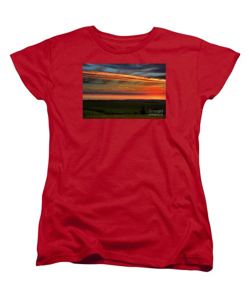 Flint Hills Sunrise Women's T-Shirt (Standard Cut)