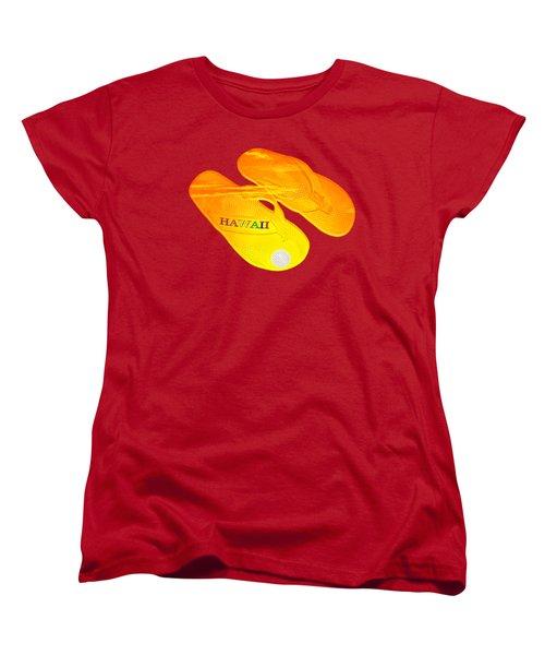 Flip Flops Kona Sunset Women's T-Shirt (Standard Cut) by David Lawson