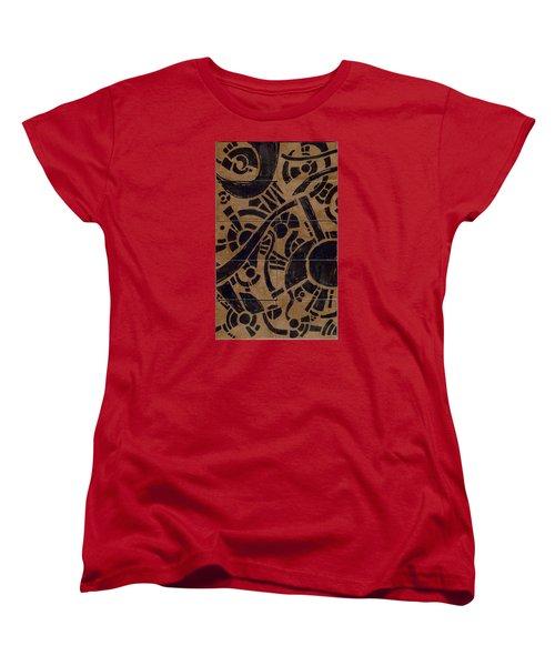 Flipside 1 Panel B Women's T-Shirt (Standard Cut) by Joseph A Langley