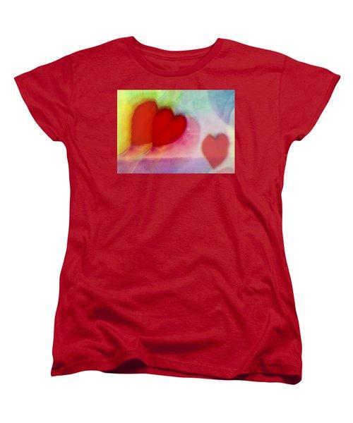 Floating Hearts Women's T-Shirt (Standard Cut) by Susan Stone