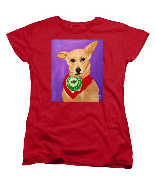 Women's T-Shirt (Standard Cut) featuring the painting Floppy Ear by Ania M Milo