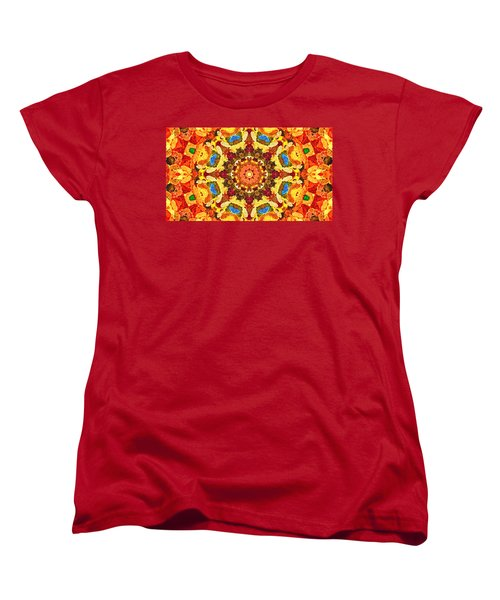 Mandala Of The Sun Women's T-Shirt (Standard Cut) by Anton Kalinichev
