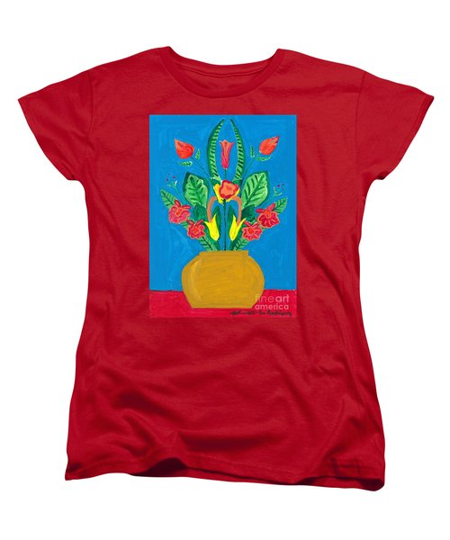 Flower Bowl Women's T-Shirt (Standard Cut) by Margie-Lee Rodriguez