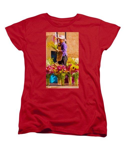Women's T-Shirt (Standard Cut) featuring the photograph Flower Lady by Trey Foerster