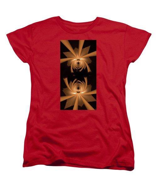 Flower Light Women's T-Shirt (Standard Cut) by Ron Bissett