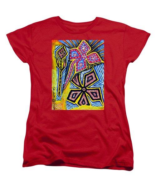 Flower Study Women's T-Shirt (Standard Cut) by Luke Galutia