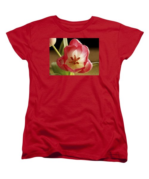 Women's T-Shirt (Standard Cut) featuring the photograph Flower Tulip by Nancy Griswold