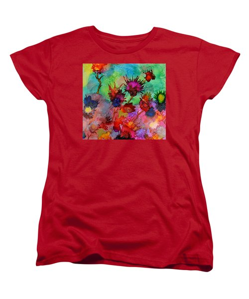 Flowers Blowin In The Wind Women's T-Shirt (Standard Cut) by Warren Thompson