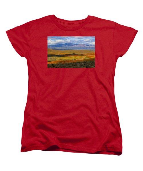 Flowers Carpet Women's T-Shirt (Standard Cut) by Viktor Savchenko