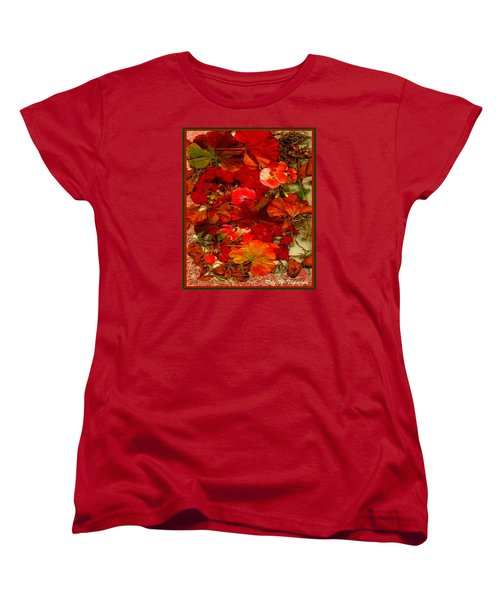 Women's T-Shirt (Standard Cut) featuring the mixed media Flowers For You by Ray Tapajna