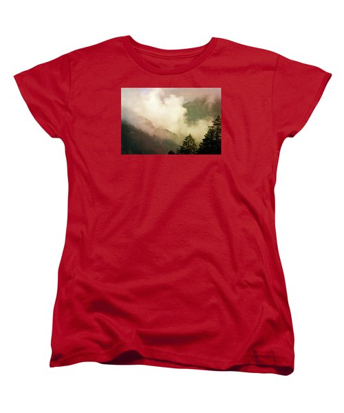 Fog Competes With Sun Women's T-Shirt (Standard Cut) by AugenWerk Susann Serfezi
