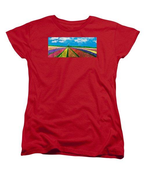 Follow The Rainbow Women's T-Shirt (Standard Cut) by Belinda Low