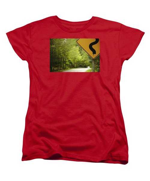 Women's T-Shirt (Standard Cut) featuring the photograph Follow The Sign by Cendrine Marrouat
