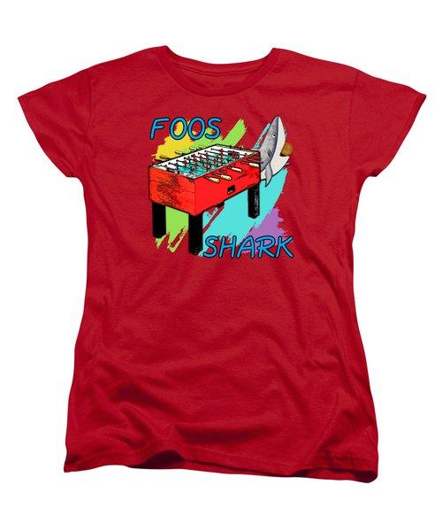 Foos Shark Women's T-Shirt (Standard Cut) by David G Paul