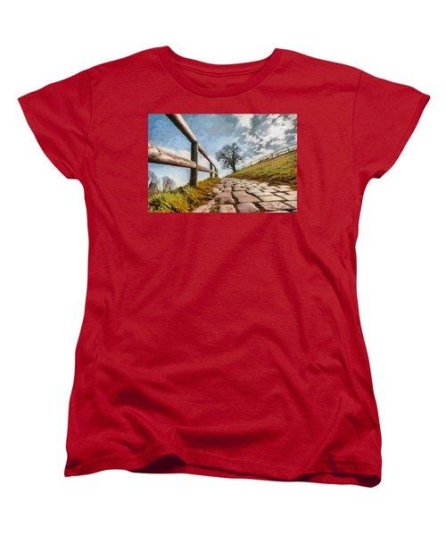 Women's T-Shirt (Standard Cut) featuring the photograph Footpath by Sergey Simanovsky
