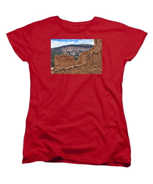 Forbidding Cliffs Women's T-Shirt (Standard Cut) by Alan Toepfer