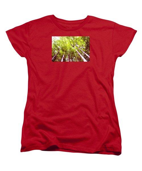 Women's T-Shirt (Standard Cut) featuring the photograph Forest 2 by Jean Bernard Roussilhe