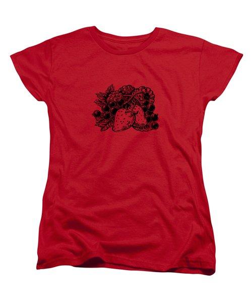 Forest Berries Women's T-Shirt (Standard Cut) by Irina Sztukowski